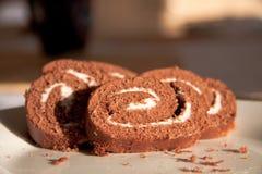 chokladrulle Arkivbild