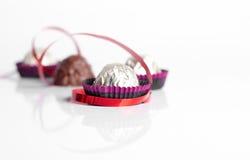chokladsötsaker Arkivfoton