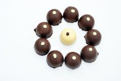 chokladsötsaker royaltyfria bilder