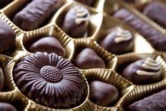 chokladsötsaker fotografering för bildbyråer