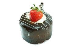 ChokladShortcake med jordgubben Royaltyfri Bild