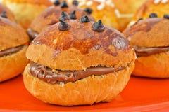 chokladsmörgåsar till royaltyfri foto