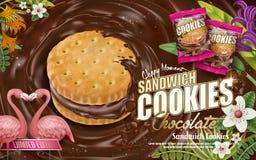 Chokladsmörgåskakor royaltyfri illustrationer