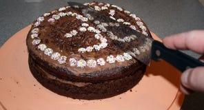 Chokladsockerkaka Fotografering för Bildbyråer