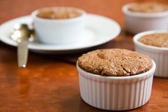 chokladsouffle Fotografering för Bildbyråer