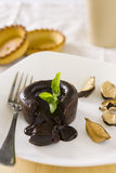 Chokladsouffle Arkivbild