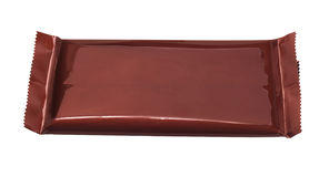 Chokladstång i plast- omslag Royaltyfria Bilder