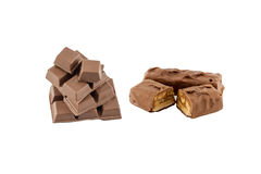 Chokladstång och chokladrån Arkivbild
