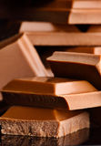 chokladstapel arkivbild