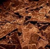 Chokladstora bitar Arkivfoto