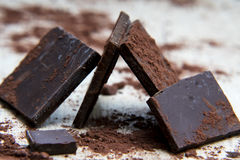 Chokladstruktur Arkivbilder