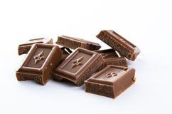 chokladstycken Arkivfoton
