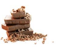 Chokladstycken Arkivfoto