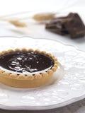 chokladtartlet royaltyfri foto