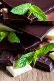 Chokladtorn med mintkaramellen Arkivbild