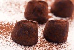 Chokladtryfflar arkivfoto