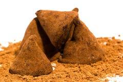 Chokladtryfflar Fotografering för Bildbyråer