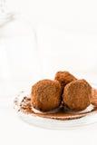 Chokladtryfflar. Handgjorda godisar för chokladtryffel Royaltyfri Fotografi