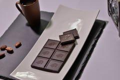 Chokladuppläggningsfatdesign Arkivfoton
