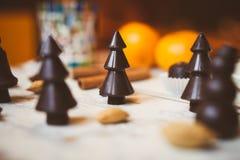 Chokladuppsättning Royaltyfri Bild