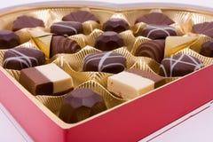 chokladvalentin Royaltyfri Fotografi