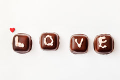 Chokladvalentin gåva Arkivbilder
