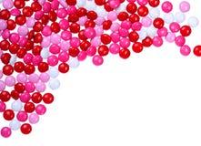 Chokladvalentin godis som täckas i rosa färger, rött och vitt Royaltyfri Foto