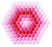 Chokladvalentin godis som täckas i rosa färger som är röda Royaltyfria Bilder