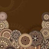 chokladvykort Royaltyfri Fotografi