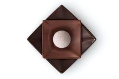 chokladwhite royaltyfria bilder
