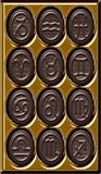 chokladzodiac Royaltyfria Bilder