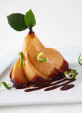 Choko pear dessert. Great dessert, pear and choko in white background Stock Images