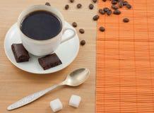 Chokolate. Cup of coffee with chokolate Stock Image