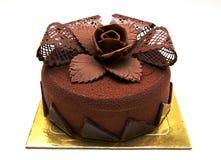Chokolate cake with decorations royalty free stock photo