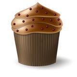Chokolate Cupcake, Tasty Muffin. Dessert Menu Print. Vector Illustration Royalty Free Stock Photography