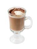 chokolate koktajlu kawa odizolowywająca Fotografia Stock