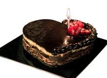 Chokolate-Kuchen mit Frucht Stockfotografie