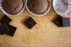 Chokolate-Schalenkuchen lizenzfreies stockfoto