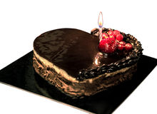 Chokolate tort z owoc Fotografia Stock