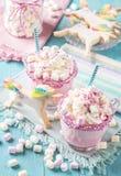 Chokolate y galletas calientes del unicornio Imagenes de archivo