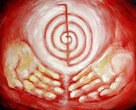 Choku Rei Healing Protection Reiki Stock Images