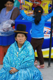 Chola i blått Royaltyfri Bild