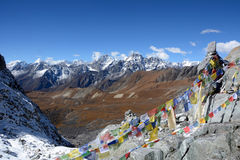 Chola pass 5400m. Nepal. Trekking in the mountains in Nepal. Winter backpacking in Himalayas. Nepal trekking and travel provide a suitable place for your never royalty free stock photography