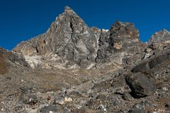 Chola pass,one of pass on Everest base camp trekking route region,Nepal stock images