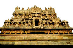 Cholan-Art gopuram Stockfotos
