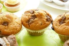 Cholate chip muffins Stock Photo