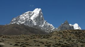 Cholatse, high mountain Stock Photos