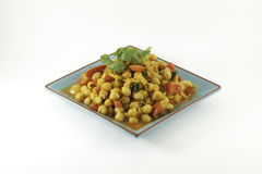Cholay Curried Chickpeas Royalty Free Stock Photography