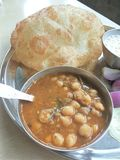 Chole bhature Stock Photography