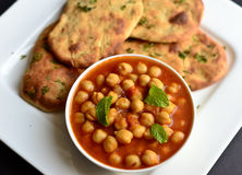 Chole Bhature. Indian meal consisting of Chole and Bhature generally served at main course or for breakfast in northern India Stock Images